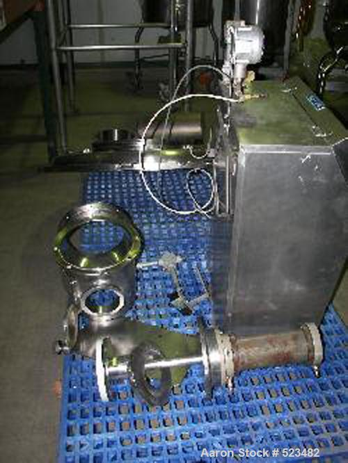 USED: Diosna P-800 high shear mixer granulator. Bowl volume 800 liters. Batch size up to 720 liters. Main rotor drive 35/55 ...