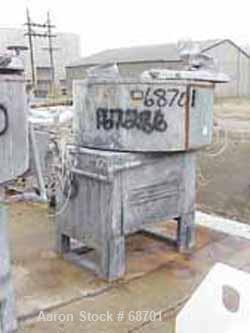 """Used- Henschel Cooler, Model FM500CK, Stainless Steel. Jacketed bowl 59"""" diameter x 23-1/2"""" deep. Swing-away cover with (4) ..."""