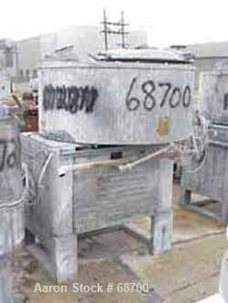 "Used- Henschel Cooler, Model FM500CK, Stainless Steel. Jacketed bowl 59"" diameter x 23-1/2"" deep. Swing-away cover with (4) ..."