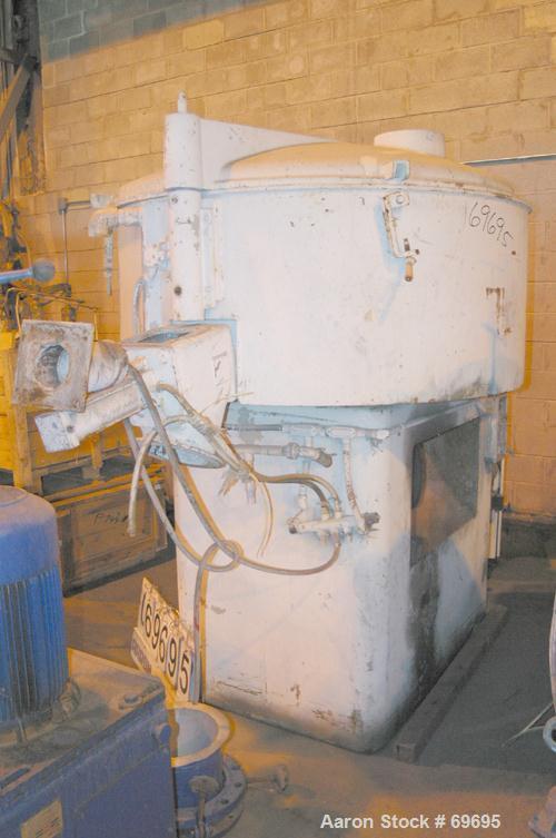 "USED: Henschel cooler, model FM500DK, 316 stainless steel. Jacketed bowl 59"" diameter x 23-1/2"" deep. Swing away top cover w..."