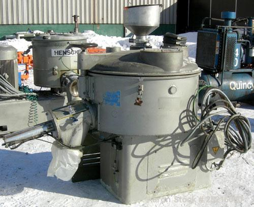 """Used- Henschell Cooler, Model KM-350-B, 12 Cubic Feet, 321 Stainless Steel. Carbon steel jacketed bowl 39"""" diameter x 18"""" de..."""