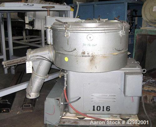 "Used- Henschel Cooler, Model KM-350, 12.4 cubic feet, stainless steel.  Jacketed bowl 39"" diameter x 18"" deep.  Single tier ..."