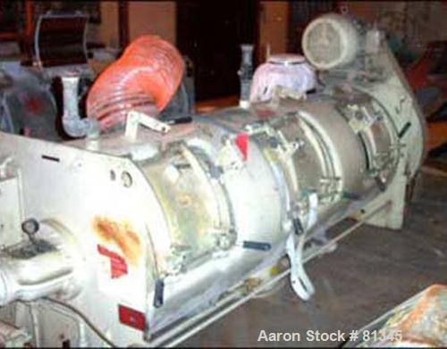 USED: Littleford 1200 liter cooler, model K1200, stainless steel construction, jacketed for 45 psig at 100 degrees F, 20 hp ...