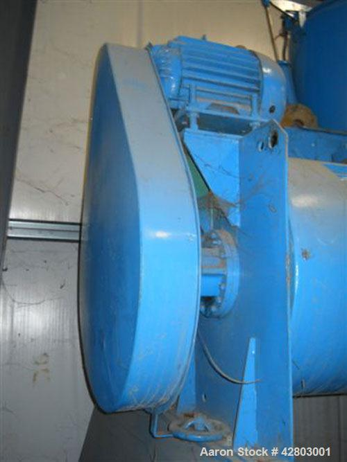 Used-Littleford Mixer, model W-600/K-1200. 600 Liter mixer, 1200 liter horizontal cooler, stainless steel, all controls (PLC...