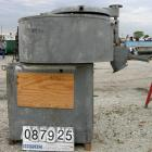 USED: Henschel Cooler, approximately 1000 liter, 35 cubic foot, 316 stainless steel. Carbon steel jacketed bowl 59