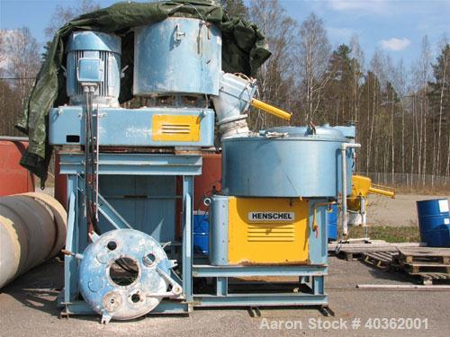 Used-Henschel Mixer/Cooler Combo, type FM500/KM1050, consisting of: (1) Henschel high intensity mixer, type FM500D, 11.5 cub...
