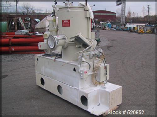 USED: Model W200/K300 Littleford mixer-cooler combination. With model W200 Littleford high speed mixer, stainless steel cons...