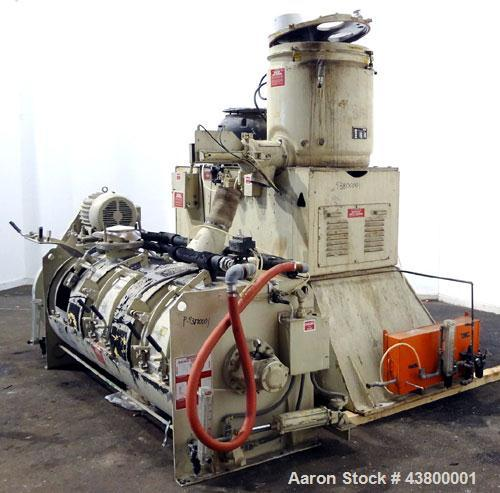 Used- Littleford Mixer-Cooler Mixing System Consisting Of: (1) Littleford Model W400 high intensity mixer, 8.8 cubic feet wo...