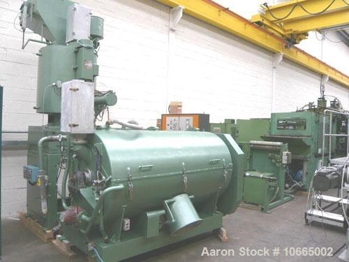 Used-MTI mixer/cooler combination, type M400S/K1600 with an output up to 3300 lbs/hour (1500 kg/hour) based on 411 lbs (187 ...