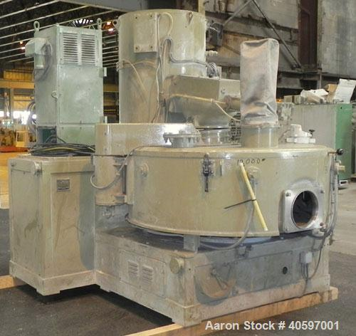 Used- Papenmeier Mixer/Cooler Combo, Type MCR40/100, Consisting Of: (1) Papenmeier high intensive mixer, type MCR40, 316 sta...