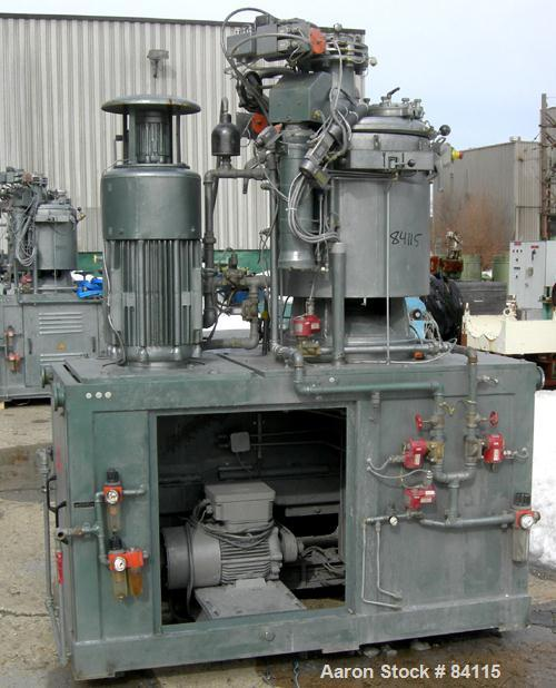Used- Papenmeier Mixer/Cooler Combo Consisting Of: (1) Model TS160 high intensity mixer, 316 stainless steel. Carbon steel j...