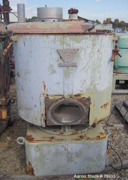 Used- Prodex 500 Liter (11.5 cu ft) Mixer/Cooler Combo, Stainless Steel. Consisting of: (1) type 115JSS high intensity mixer...