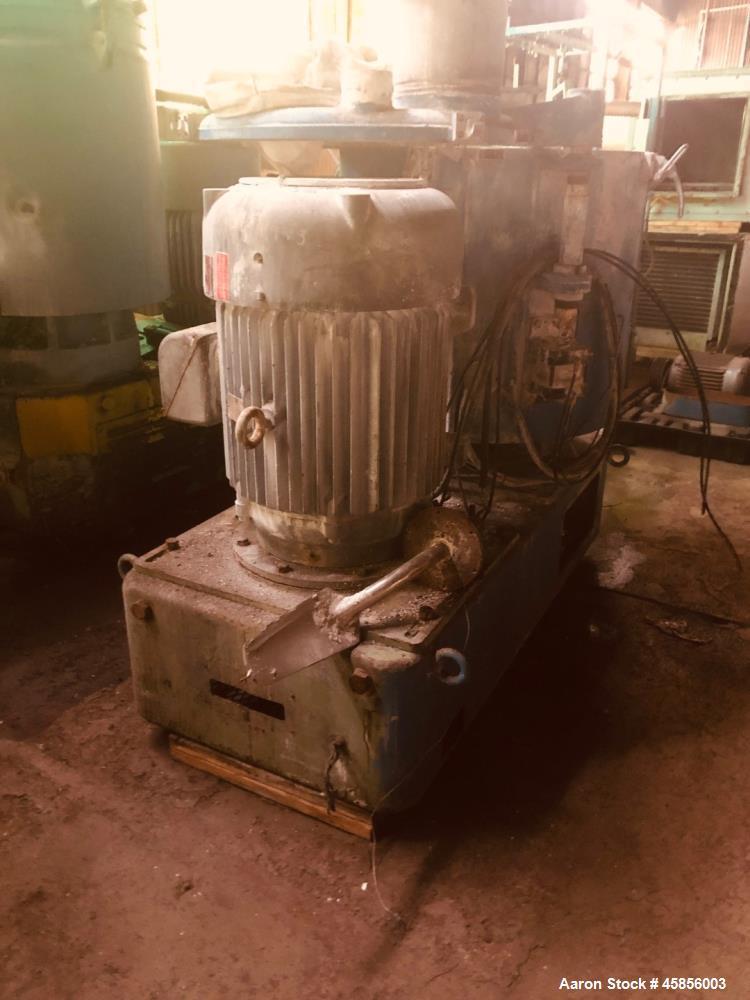 Used- Prodex Henschel Mixer Cooler Combination consisting of: (1) 500 liter Prodex Henschel high intensity mixer, model 115J...