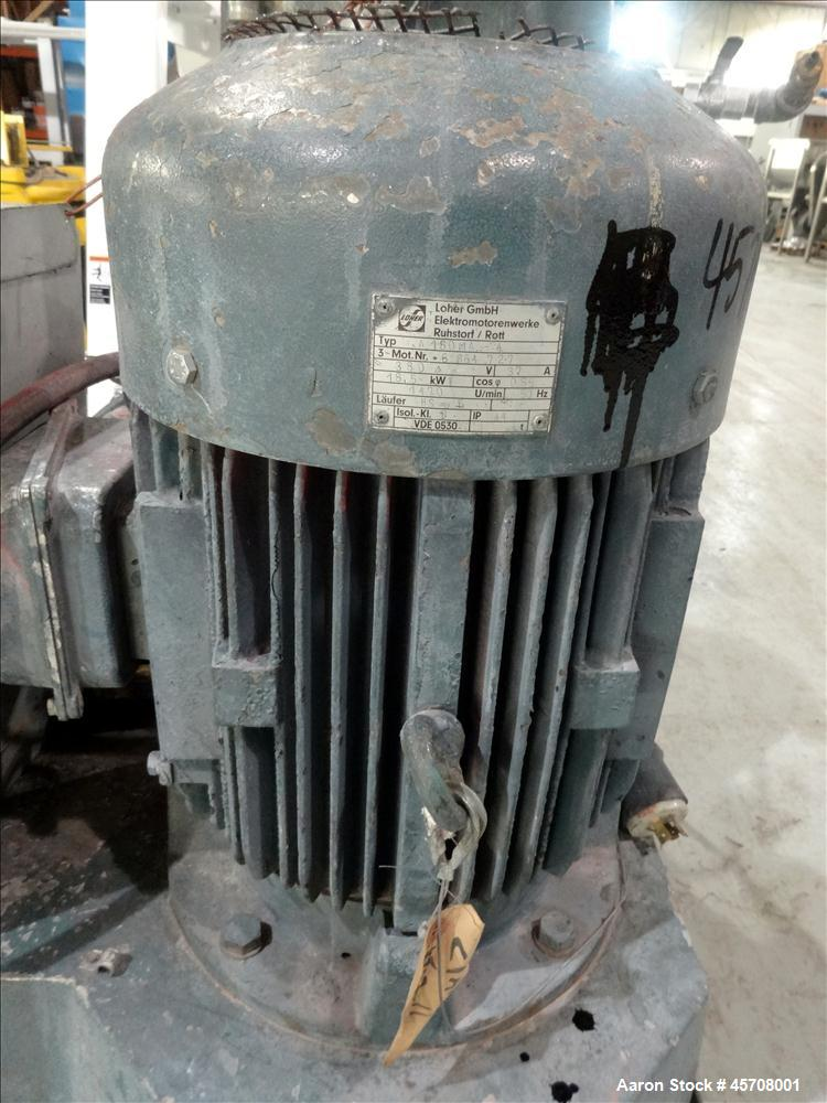 Used- High Intensity Mixer, Approximately 40 liter, 316 Stainless Steel Bowl and