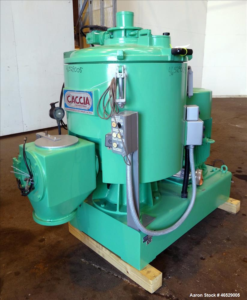 Used- Caccia High Intensity Mixer, Model CP0200V, Working Capacity 170 Liters