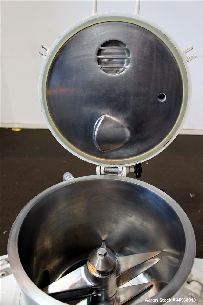"""Used- Diosna High Intensive Mixer, Type R25, 304 Stainless Steel. 25 Liter (0.88 cubic feet) capacity. 13-3/8"""" Diameter x 12..."""