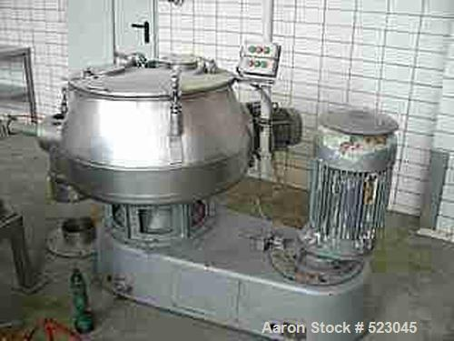 USED: Diosna high intensive mixer, type V200. Material of construction is polished stainless steel on product contact parts....