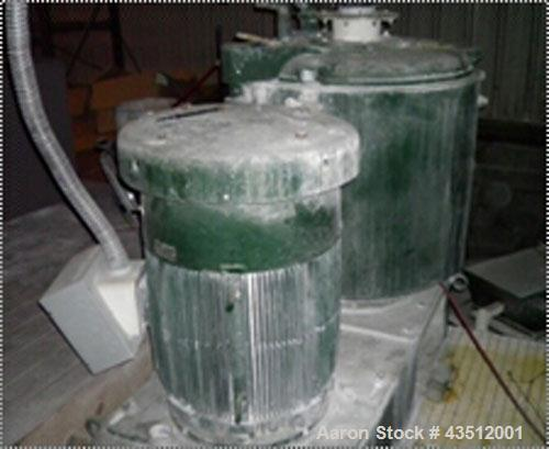 "Used-Henschel High Intensity Mixer, Model 115JSS, 500 liter, stainless steel. Two tier blade with baffle on cover. 36"" diame..."