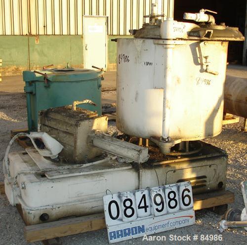Used- Stainless Steel Henschel High Intensity Mixer, Model 115JSS