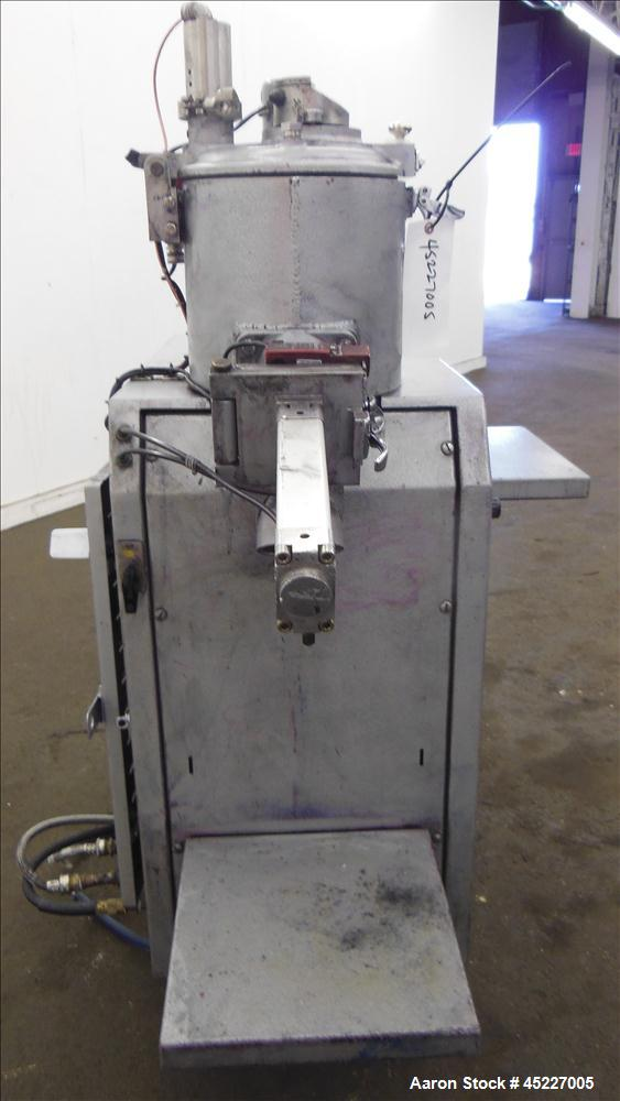 "Used- Henschel Model FM-10 Mixer, fluidizing mixer. Bowl is 9 1/2"" diameter x 9"" deep, 316 stainless steel, blades are 304 s..."