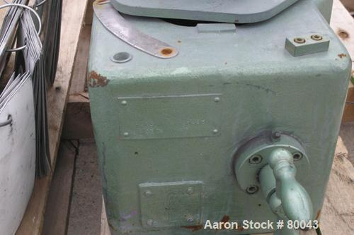 Used- Henschel High Intensity Lab Mixer, Model FM-10, 10 Liter (.35 cubic feet) Capacity, 316 Stainless Steel. Carbon steel ...