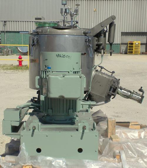 "Used- MitsuiMiike Machinery Henschel High Intensity Mixer, Model FM-300J/1, 300 Liter Capacity, Chrome Construction. 31-1/2""..."