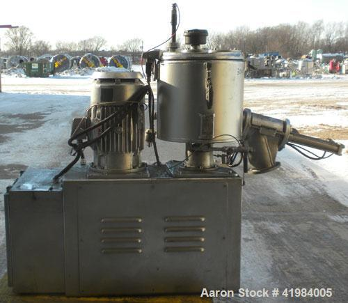 Used- Henschel High Intensity Mixer, model FM 40, 304 stainless steel. 32 Liter (1.1 cubic feet) working capacity (40 liter/...