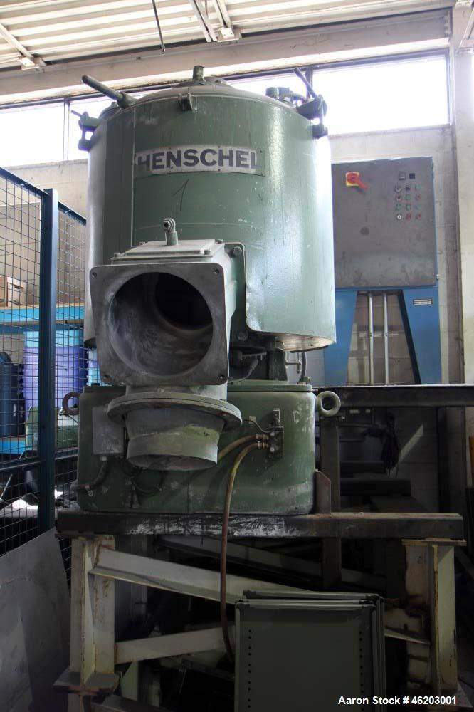 Used- Henschel High Intensity Mixer, Model FM 500 D. Includes control panel and valve.