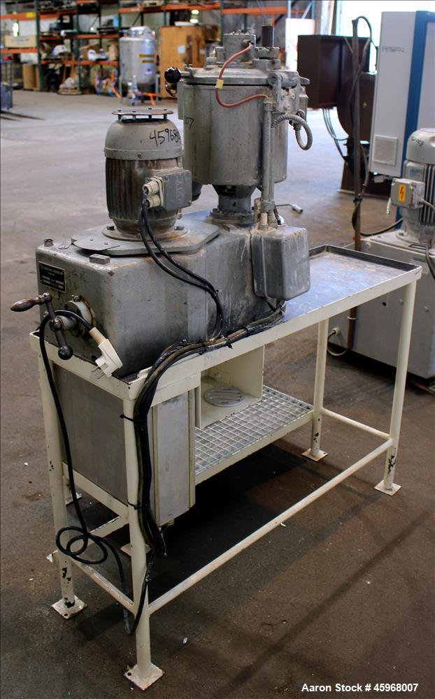 Used- Henschel High Intensive Lab Mixer, Model FM 10L, 10 Liter (.35 cubic feet) Capacity, 316 Stainless Steel. Carbon steel...