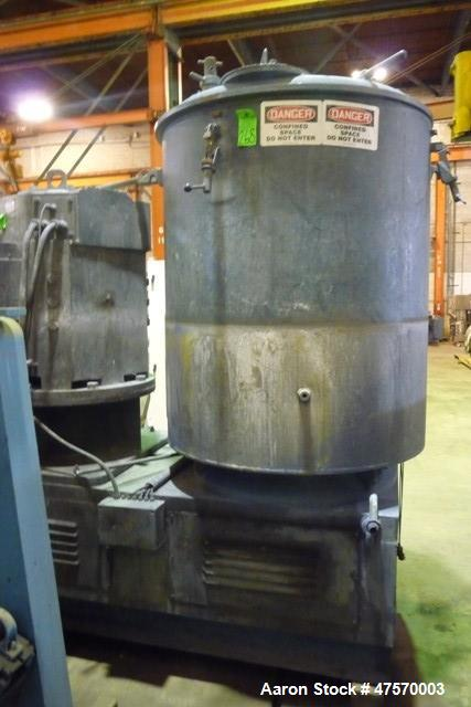 Used- Thyssen Henschel High Intensity Mixer, Model FM2000A. 4 Tier blade, air operated discharge valve. Mixer driven by a 80...