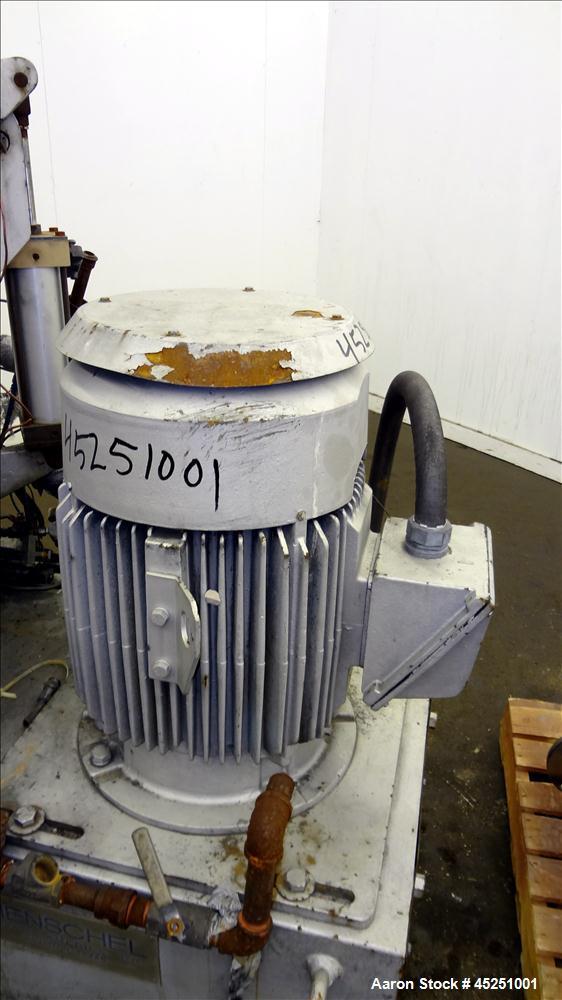 Used- Stainless Steel Henschel High Intensity Mixer, 200 Liter (7 Cubic Feet), Model FM 200