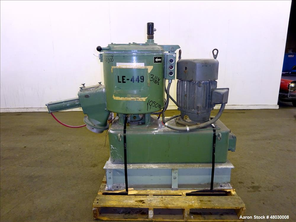 Used- Henschel High Intensity Mixer, Model FM75D, 75 liter, 2.6 Cubic Feet Worki