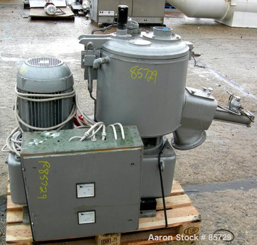 Used- Henschel High Intensity Mixer, Model FM 75D. Approximate 75 Liter (2.6 Cubic Feet), 316 Stainless Steel. Carbon steel ...