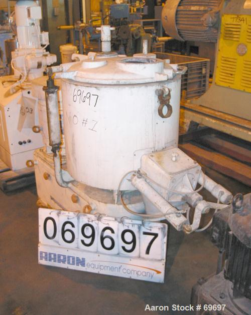 "Used- Henschel High Intensity Mixer, Type FM150D. 5 Cubic foot working capacity, 316 stainless steel, 23 1/2"" diameter x 22""..."