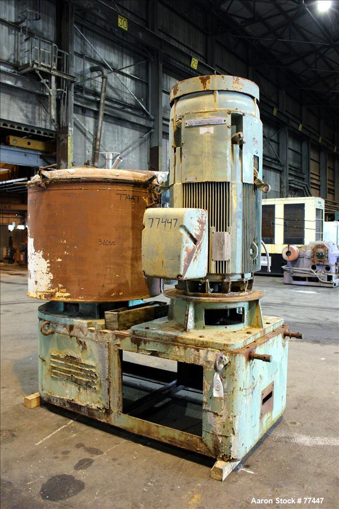 Used- Stainless Steel Henschel 1000 Liter High Intensity Mixer