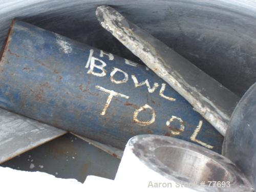 Used- Henschel 1000 Liter High Intensity Mixer Bowl Only. Stainless steel, jacketed.
