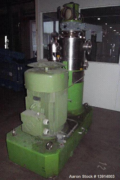 Used-IKA High Intensive Mixer/Agglomerator, type MHD 200/50. 316 Ti stainless steel on product contact parts. Liquid phase 1...