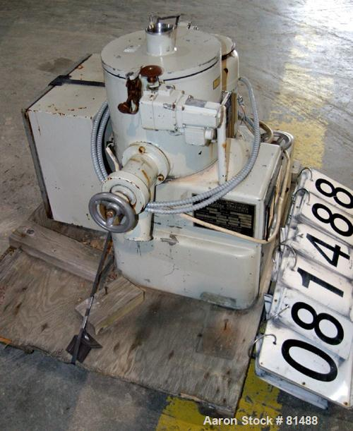 Used- Littleford/Lodige High Intensity Lab Mixer, Model W-10, 316 Stainless Steel. 7 liter (.25 cubic feet) working capacity...