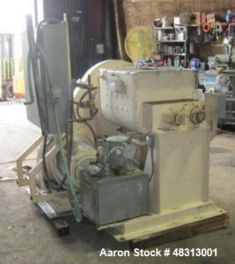 Used- Littleford 125 Gallon High Shear Jacketed Mixer. Dual plow, jacket rated for 80 psi at 312 degrees F. Shell thickness ...
