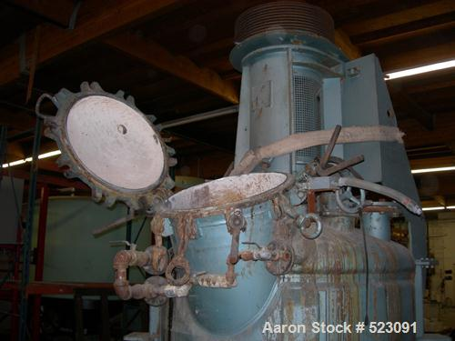 USED: Lodige Papenmeier mixer, 2000 liter capacity, 5' diameter x 12' high, stainless steel contact parts, jacketed, high sh...