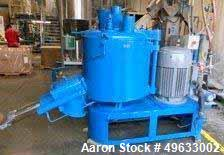 Used Henschel High Intensity Mixer, Model FM500. Total vessel volume of 500 liters (17.5 cubic feet) and a working capacity ...