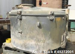 Used- JF Glies Cooler, High Intensity Mixer, Model KM-2200, 2200 Liter. Stainless steel. Jacketed. 22kw motor. Includes disc...