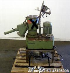 "Used- Papenmeier High Intensity Mixer, Model TGHK8, 8 Liter Capacity. 316 Stainless Steel. 9"" Diameter x 10.5"" deep mixing b..."