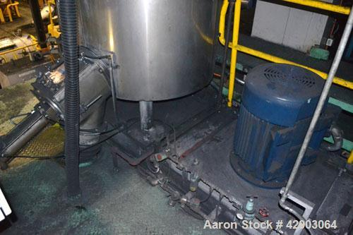 "Used- Mitsui Miike High Intensity Mixer, Model FM1000J, 1000 Liter (35.3 Cubic Feet), Stainless Steel. Jacketed bowl 48"" dia..."