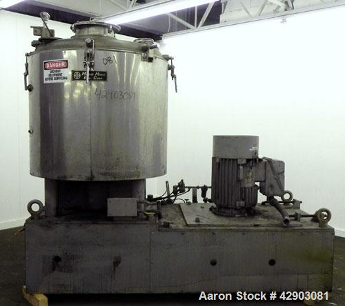 Used- Stainless Steel Mitsui Mike High Intensity Mixer, Model FM1000JP
