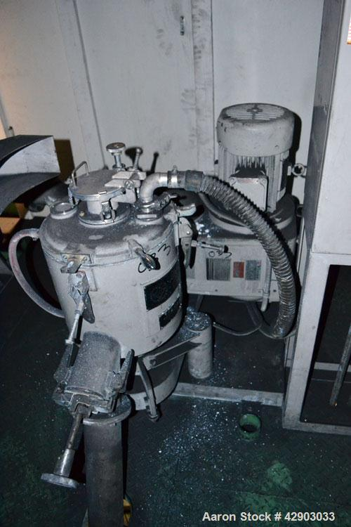 """Used- Mitsui Miike High Intensity Mixer, Model FM20B, 20 Liter (0.70 Cubic Feet), Stainless Steel. Jacketed bowl 11-3/4"""" dia..."""