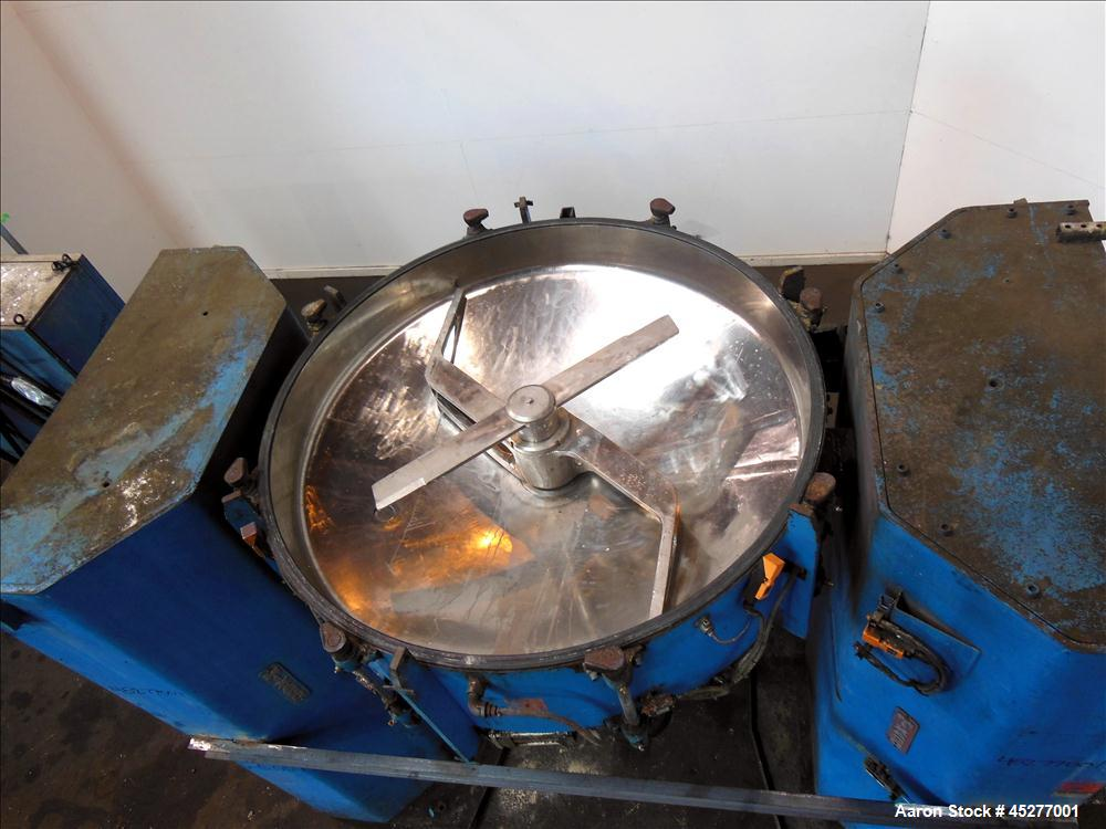 Used- Stainless Steel Mixaco Maschinenbau High Intensity Container Mixer, Type C