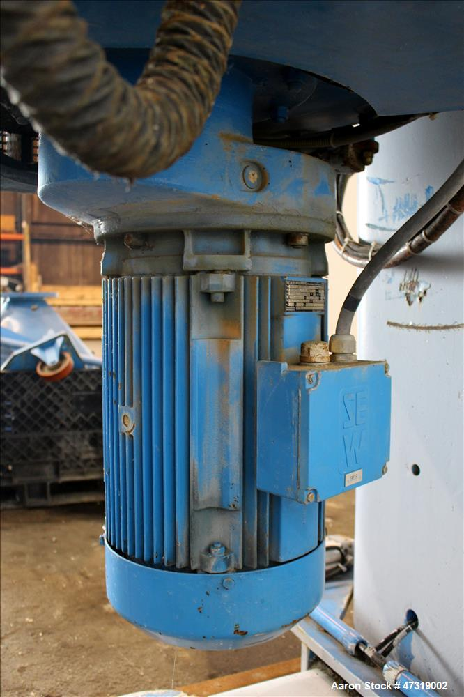 Used- Mixaco High Intensity Container Mixer, Model CM 300 WA-D, Working Capacity 240 Liter, Total Capacity 300 Liter. Rotati...
