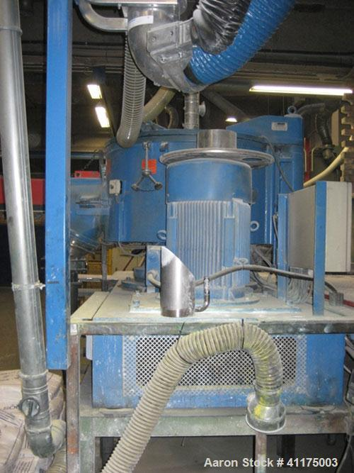 Used-Mixaco SM600-D High Speed Mixer. Working capacity 126.8 gallons (480 liters), total capacity 21 cubic feet (600 liters)...