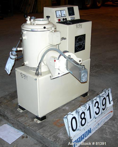 USED: MTI laboratory high intensity mixer, type M20. Material ofconstruction is AISI 321 (1.4541) stainless steel on product...